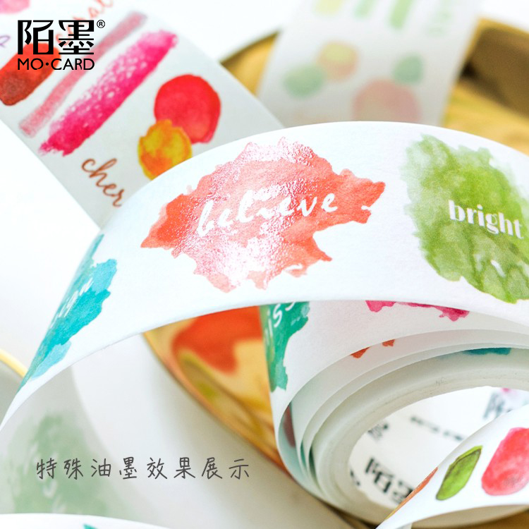 4PCS/LOT Oil Series Watercolor Album Diary Stickers DIY Paper Decoration Tape Masking Tape Washi Tape