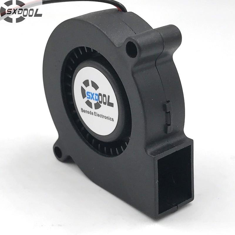 SXDOOL 2 pcs DC Blower 5015 5cm 50mm 24V 0.04A 3300 RPM 2pin DC Blower Fan Inverter Fan Cooling Fan free shipping for nmb bg1203 b058 p00 l2 dc 24v 1 30a 3 wire 3 pin connector 50mm 120x120x32mm server blower cooling fan