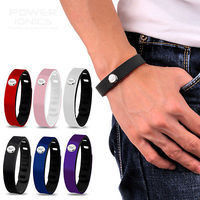 Power Ionics 3000ions Sports Waterproof Titanium Bracelet Wristband Improve Balance Sleeping Slimming