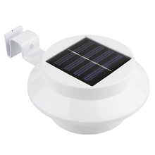 3 leds Solar led light Wall Lamp waterproof Fence Gutter Wall Pathway Yard Stairs Lamp Energy Saving Household lighting