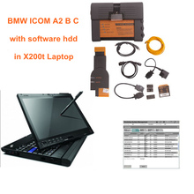 For BMW ICOM A2+B+C Diagnostic & Programming Tool with icom a2 software hdd 2017.12v (4.08+3.63) with X200t 4G Laptop Full Set