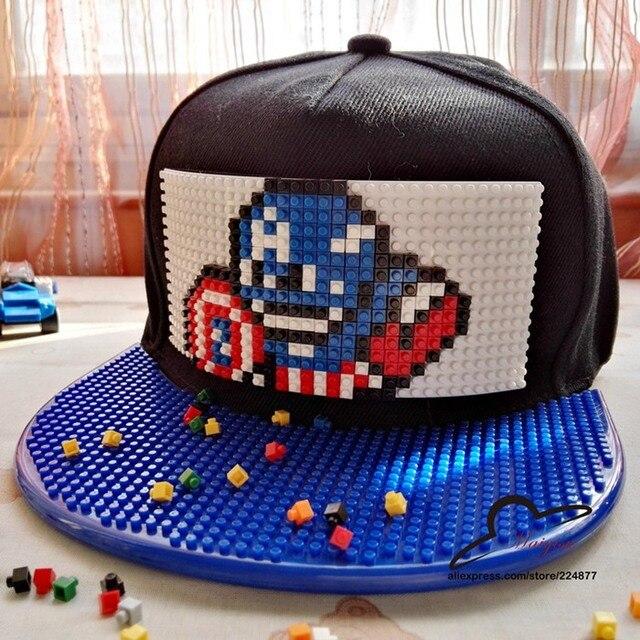Lona Feita Sob Encomenda DIY Capitão América Snapback Caps Bonito Dos Desenhos Animados Sol Plana chapéus Homem De Ferro Vingadores 3D Hip Hop Chapéu adultos Bonés de Beisebol