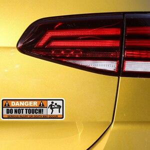 Image 4 - YJZT 2X 12.5 センチメートル * 3.9 センチメートル危険ないタッチ車のステッカーおかしい重傷または死発生デカール PVC 12 0915