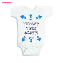 Culbutomind Father's Day Baby Shower Gift kids Baby Girl Summer Clothes Short Sleeve Body suit Jumpsuit One Piece Outfit