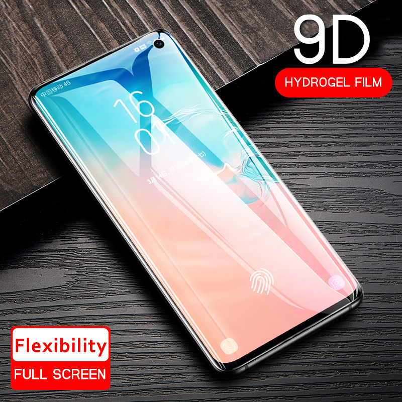 9D Full Glue Cover Soft Hydrogel Film For Samsung <font><b>Galaxy</b></font> Note 8 <font><b>9</b></font> 10 S10 S8 S9 Plus S10e <font><b>S</b></font> 10 Protection Screen Protector Glass image