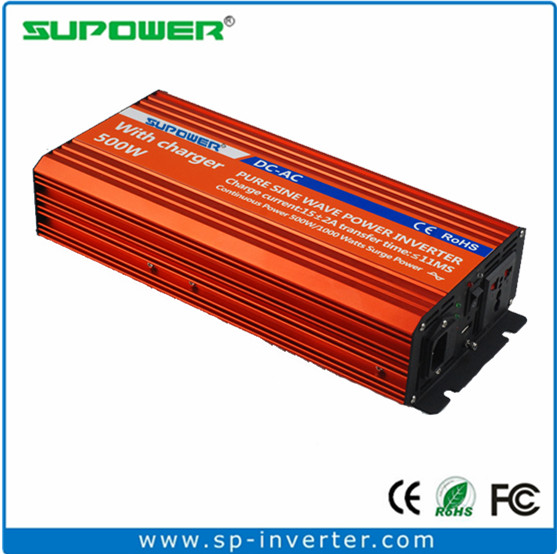 US $115 0 |500W Surge Power 1000 Watt 12v 24v dc to 120v 220v ac UPS  Inverter with built in Battery Charger-in Inverters & Converters from Home