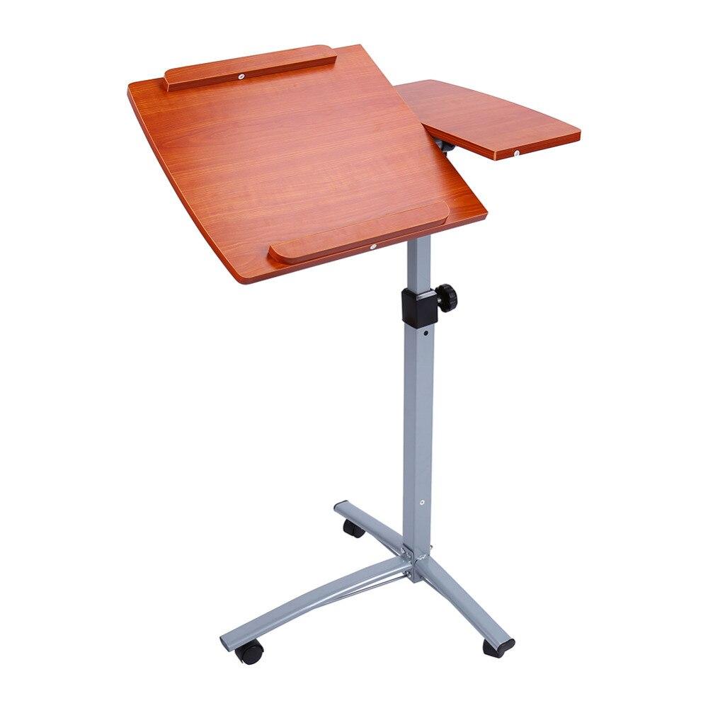 walnut hospital bedside work philippines wheels laptop table tray bed on rolling desk