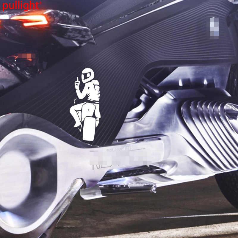 Байкерская наклейка, мотоцикл, мотоцикл показывает средний палец настройки наклейки