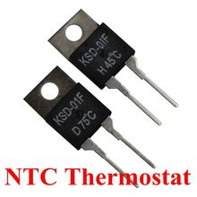100PCS KSD-01F/JUC-31F 0C-150C dergree thermostat temperature switch thermal fuse resettable 5C/20C/35C/40C/55C/75C/80C/90C/95C стоимость