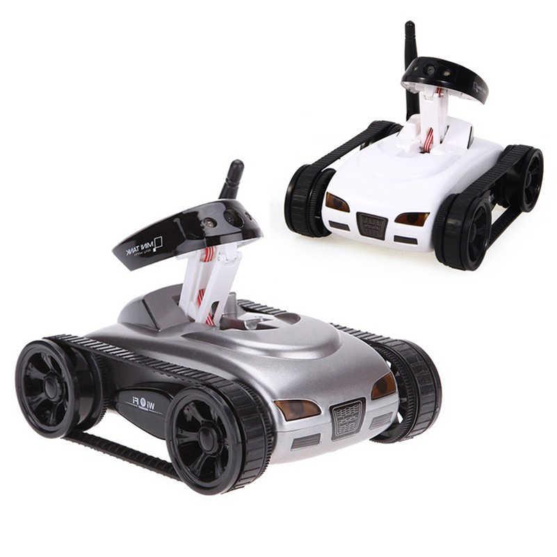 Abbyfrank, coche tanque RC 777-270, Robot de tiro con cámara de 0,3 MP, Wifi, teléfono IOS, mando a distancia, Mini tanques de juguetes espía para niños