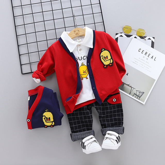 Baby Boy's T-Shirt, Jacket and Pants Set in Different Colors