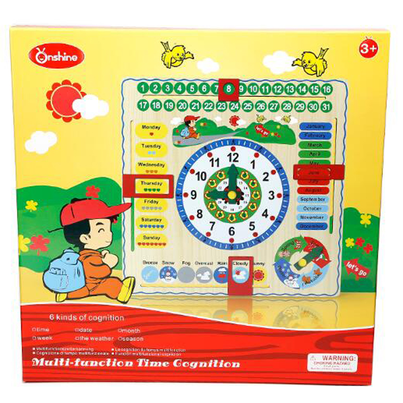 dd461c0e6fc44 Onshine Multifunction Calendar Clock Puzzle Hanging Wood Board Children Kids  Early Education Toy Learn Time Season Weather Month-in Puzzles from Toys ...