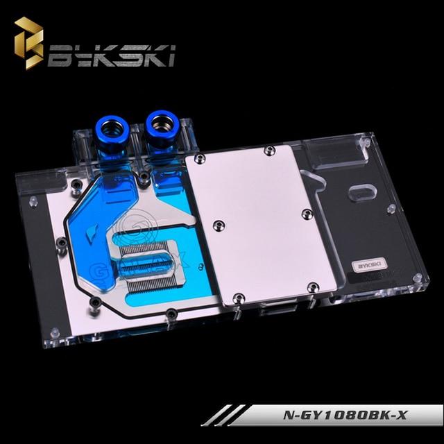 Bykski VGA Full Cover Water Cooling Block with RGB Light for Galaxy KFA2 GeForce GTX 1080 GTX 1070 GTX 1060 EXOC Graphics Cards