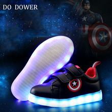 usb charge children shoes luminous sneakers boy&gril shoes led slippers kids light up led shoes glowing sneakers *&(China)