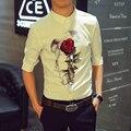 Men Shirt Fashion Brand Casual Camisa Masculina Slim Fit Floral Print Short Sleeve Shirt Chemise Homme