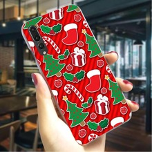 Merry Christmas Hard Cover for Huawei Honor Play Pattern Phone Case  Cases Back
