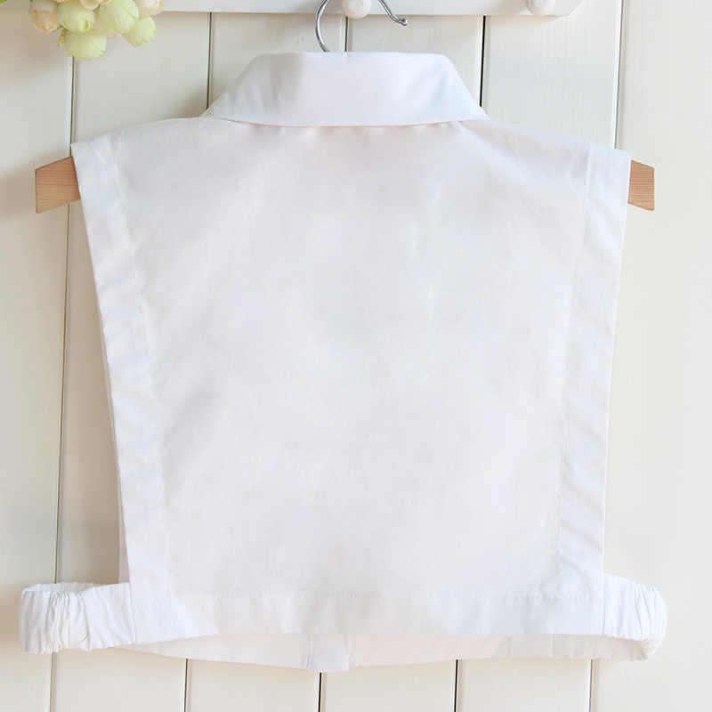 ใหม่ผ้าฝ้ายปลอมคอเสื้อหญิง Professional สแควร์เท็จเคล็ดลับสีขาวเสื้อขายส่ง