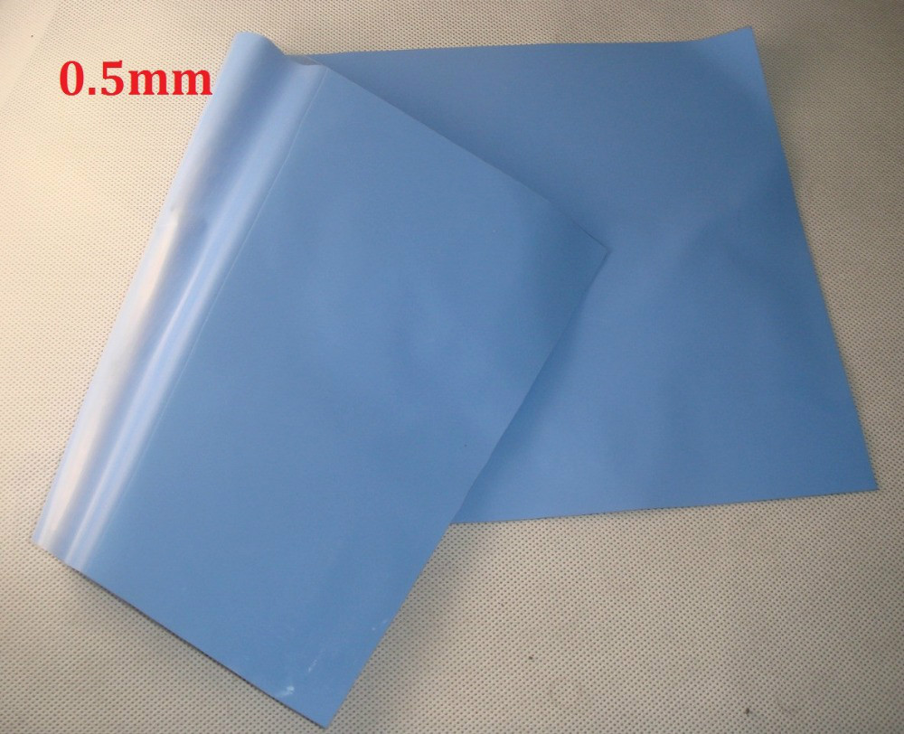 Free Shipping 400mm*200mm*0.5mm Blue Silicone Thermal Pad Heatsink Cooling Pads For CPU GPU VGA Chip Heatsink