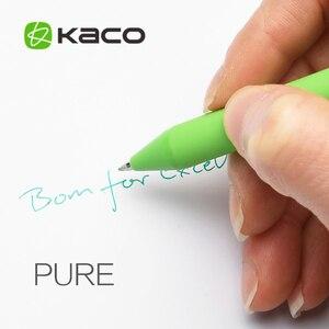 Image 5 - 20 개/몫 KACO 순수 시리즈 ABS 매트 젤 펜 패션 캔디 컬러 서명 젤 펜 학생 편지지 Office 학교 용품에 대 한