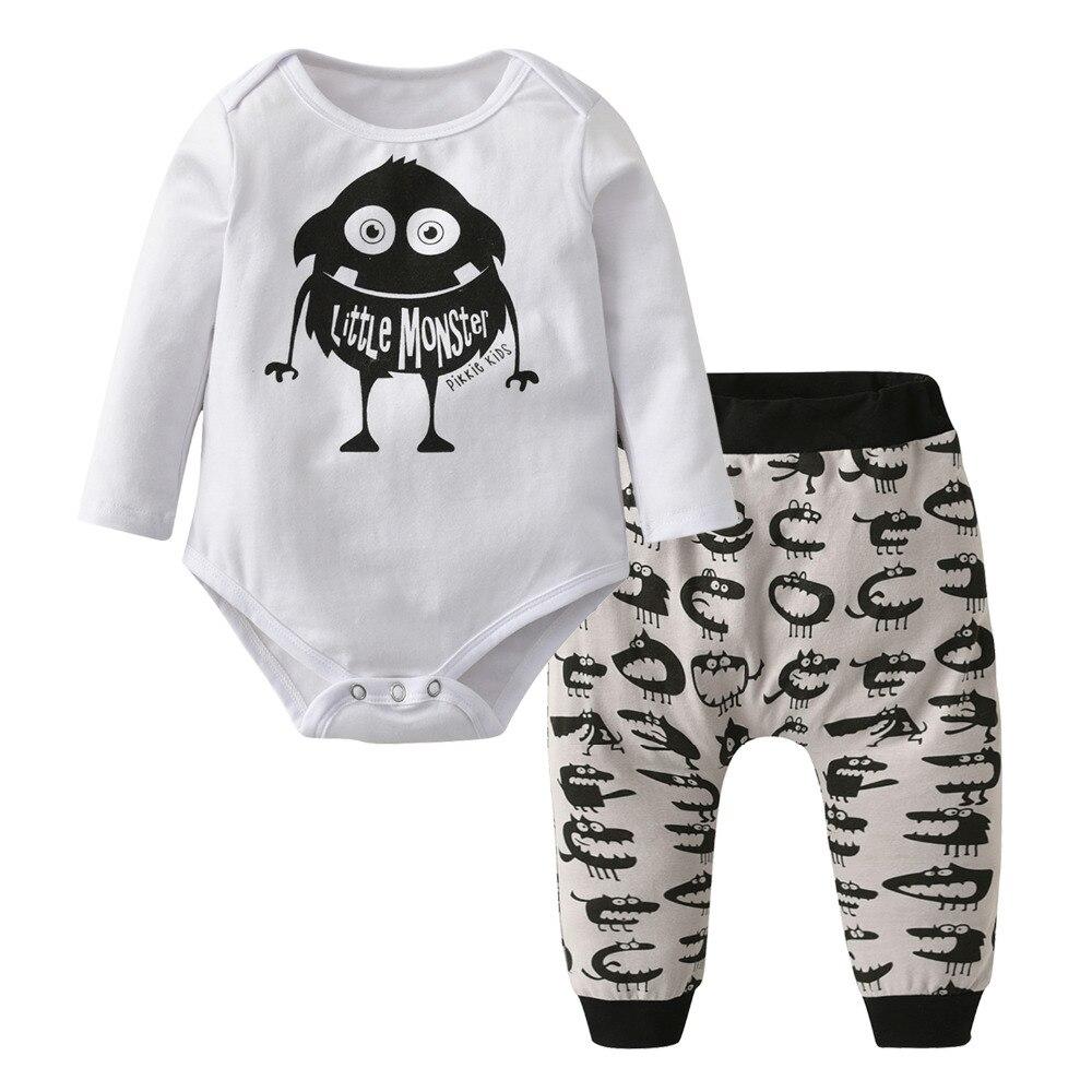 Casual Infant Clothing Long Sleeve Newborn Cartoon Little ...