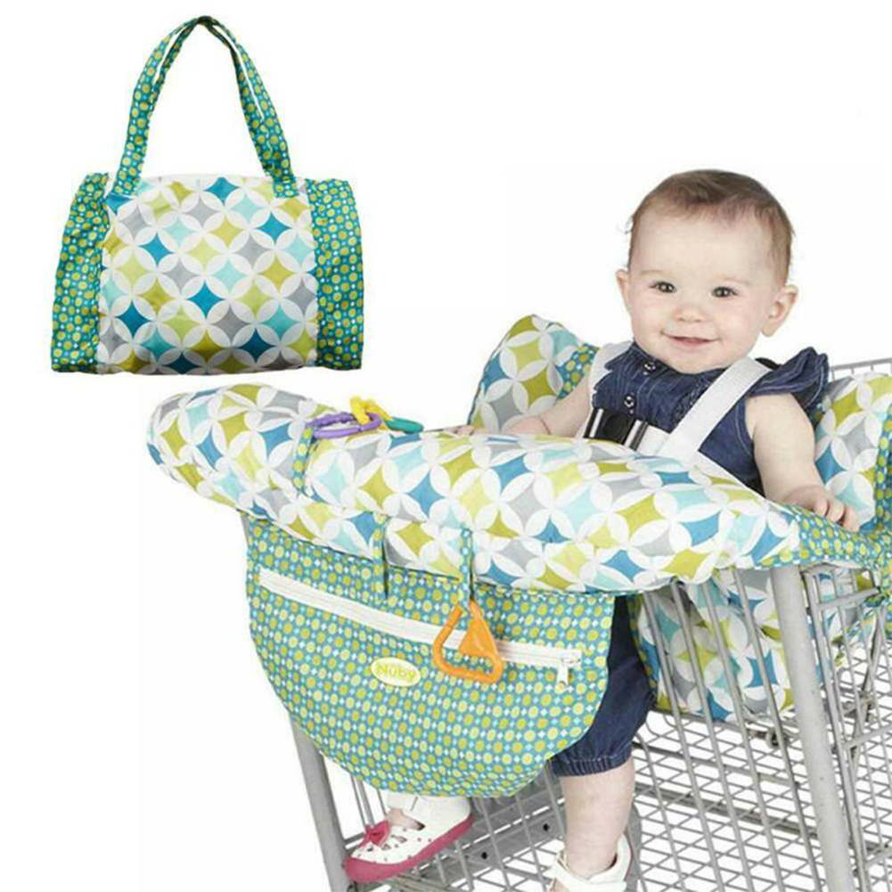 Soft Toddler Home Lightweight Pad Child Seat Baby Shopping Cart Foldable Mats With Seat Belt Chair Cushion Kids Dining Printed