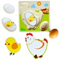 Baby  toy multilayer  Chicken Hen Stereo Jigsaw Toy  Children Kids Wooden Puzzles Panel  Early emulational wooden  toys   CU100