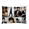 """New Lee Min Ho Pillow Case Cover Lee Min Ho Collage Pillowcase Custom Print Kpop Gifts Rectangle Pillowcover 20""""x30"""" Two Sides"""