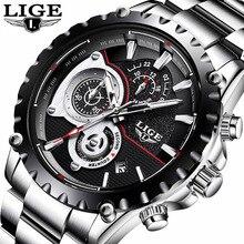 цены 2018 Mens Watches Top Brand Luxury LIGE Watch Men Fashion Sport Quartz Clock Male Dress Wristwatches Business Waterproof  Watch