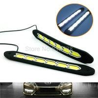 Auto Koplamp High Power COB LED Driving Fog Lamp Auto Hoofd Led-dagrijverlichting Met turn licht wit + amber