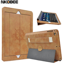 NKOBEE Luxury Leather Case For Apple iPad Air 2 Air2 Case For iPad Air 2 cover Holder Stand Book Cover for iPad Air2 tablet
