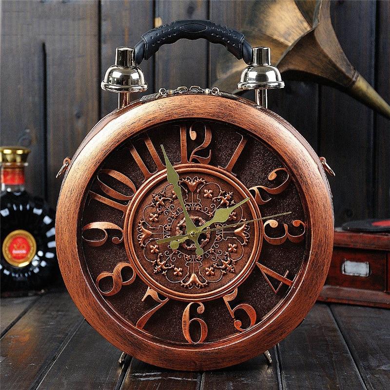 2019 nuovo orologio di allarme vintage borse da donna marrone moda primavera estate messenger borse sacchetti di spalla di legno duro