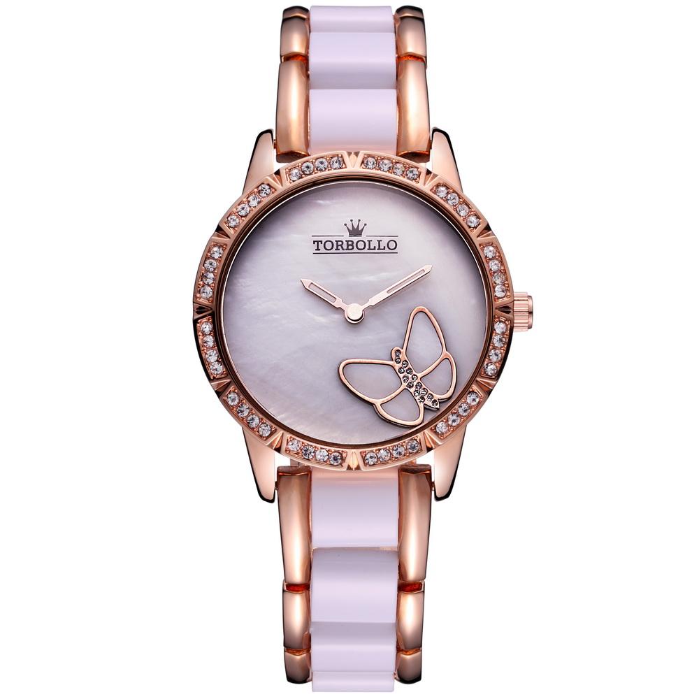Prix pour Marque de luxe Femmes Quartz Montre Alliage Simulé Bracelet En Céramique Dames Montre Blanc