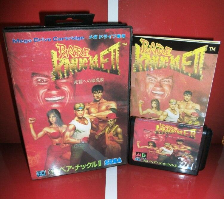 Juegos de Sega tarjeta de Bare Knuckle 2 con Caja y Manual para Sega MegaDrive C