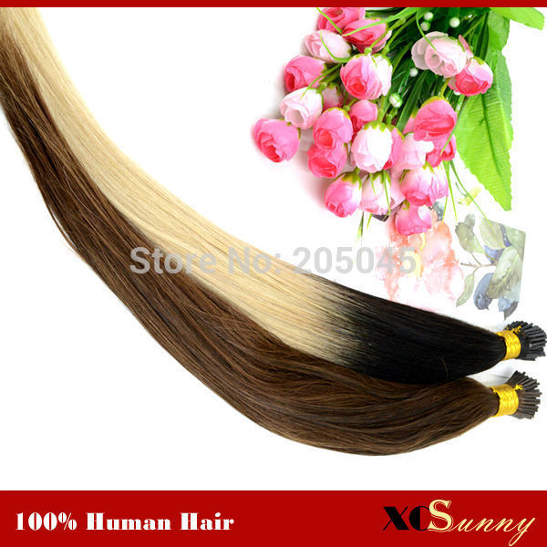 Xcsunny Fusion Hair Extensions Ombre Keratin Extensions I Tip 1820 T Tip Ombre Hair Extensions1gs 100g Indian Remy Human On Aliexpress