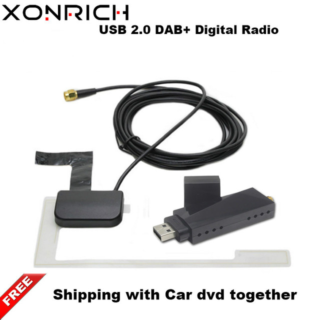 Portable USB2.0 Car DVD PlayerDigital Radio Receiver DAB+ DAB Radio Tuner Stick w/ Antenna   for Android