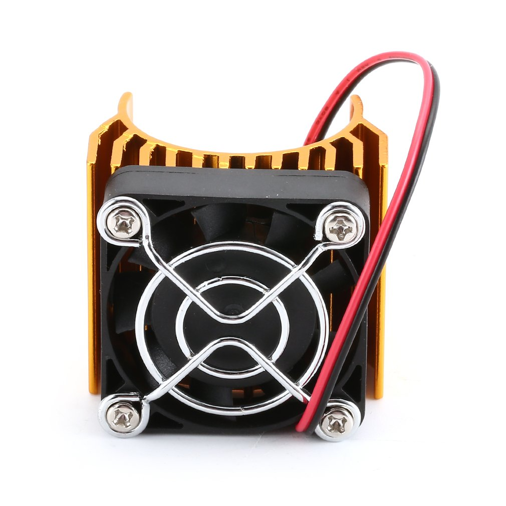 RC Alloy Engine Heat Sink Radiator With Cooling Fan Heat Dissipation For 1/10 HSP RC Brushless Car 540 550 Motor