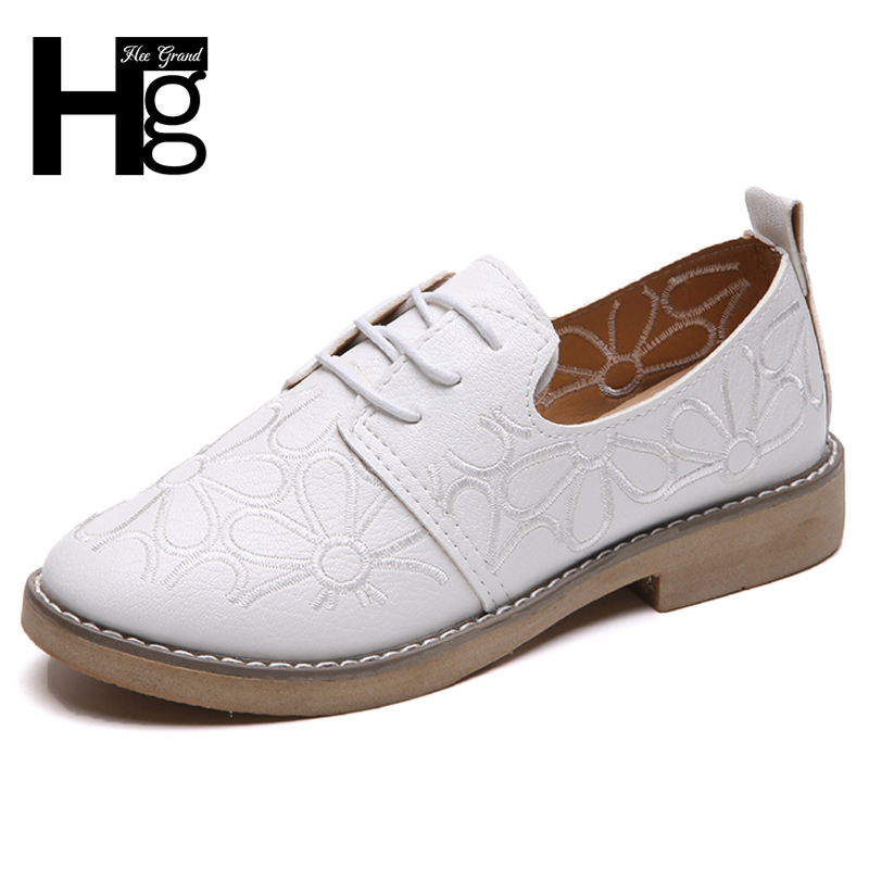 HEE GRAND Sewing Low Heels Women Shoes Platform Brogue Shoes Woman Lace Up Patchwork Oxfords Slip On Spring Shoes Woman XWD6893 hee grand pointed toe pumps british style med heels patchwork t strap oxfords shoes woman casual vintage pump shoes xwd2469