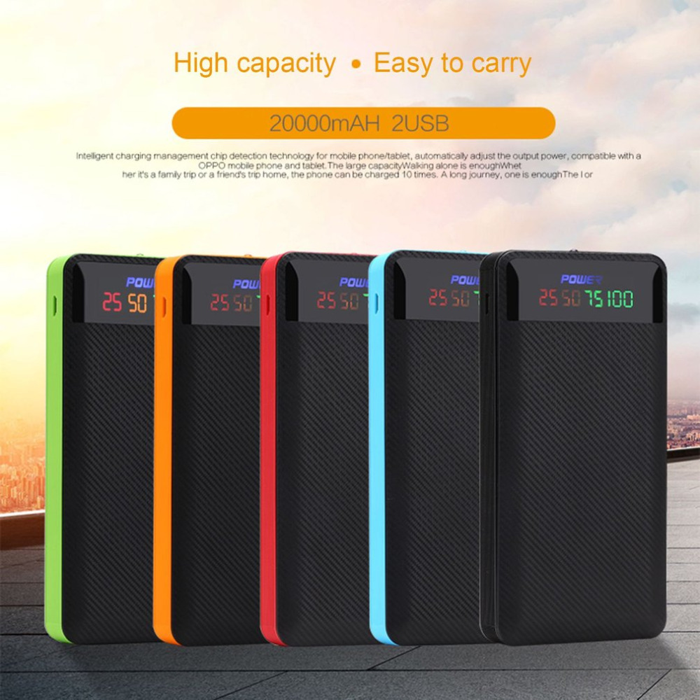 X5 Power Bank Shell Dual USB Digital Display DIY Welding Power Bank Kits Powered By 2pcs 606090 Polymer Batteries Drop Shipping