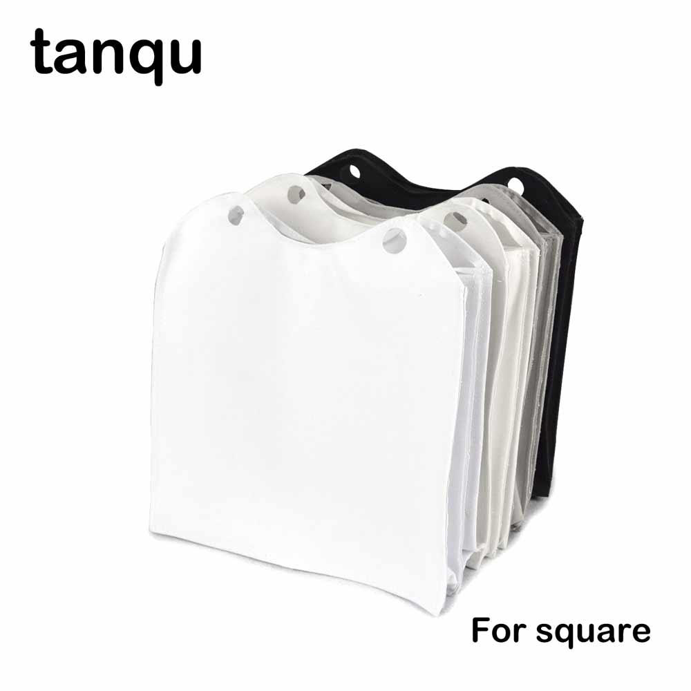 tanqu Tessuto New Canvas Fabric Inner Insert Multitasking Compartments Pocket Zip Top Lining Sacca Interna for Obag O Square new colorful cartoon floral insert lining for o chic ochic canvas waterproof inner pocket for obag women handbag