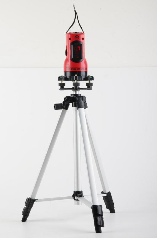 Factory direct free shipping Household 2 Lines Cross Laser Level 360 Rotary Cross Laser Line Leveling with tripod free shipping wholesales laser 2 line lase level marker mouse se sl2