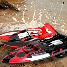 Remote-Control Boat Radio Twin-Motor RC Racing High-Speed Green Red Blue Black-Color