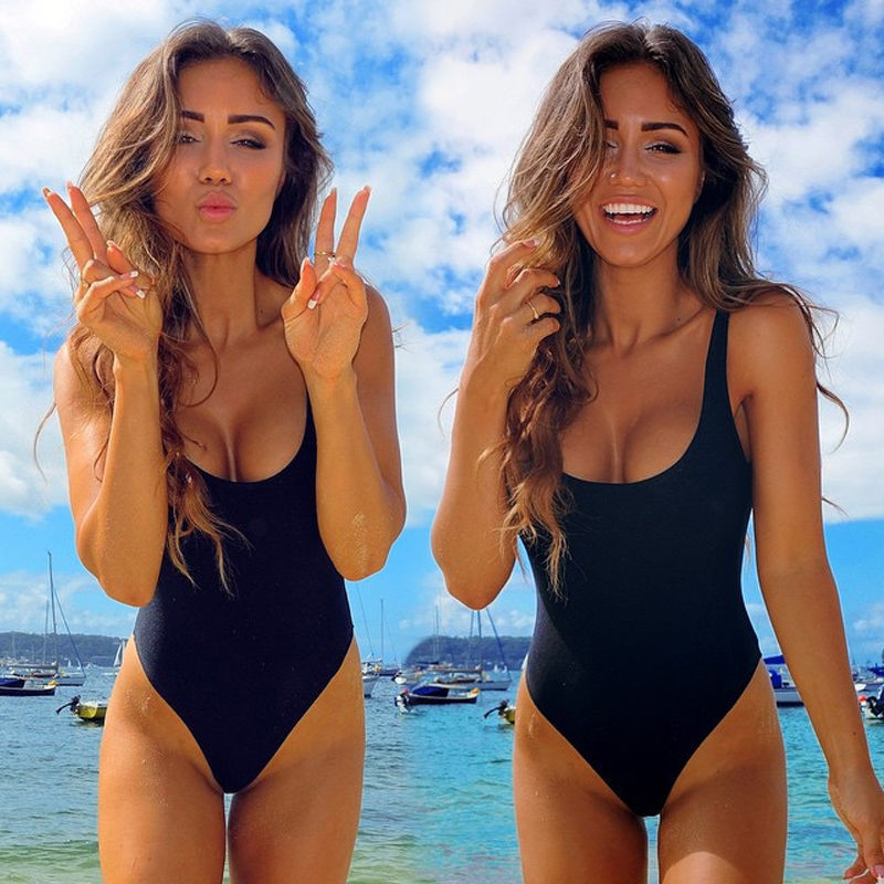 Sexy Women Swimwear One Piece Swimsuit Monokini Push Up Padded Bikini Bathing Suit Beachwear Swimming Costume Summer Sportswear