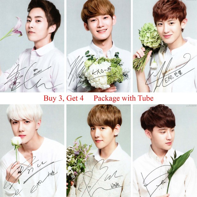 Exo Posters Music Wall Stickers Home Decoration Clear Image Bedroom