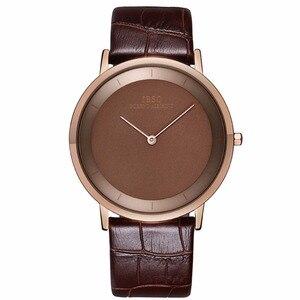 Image 5 - Ibso 간단한 스타일 패션 시계 울트라 얇은 스테인레스 스틸 아날로그 시계 남자 팔찌 시계 relogio masculino 2221