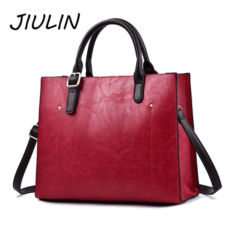 JIULIN Brand Women Solid Handbags Satchels PU Leather Crossbody Bag High Quality Purses and Handbags Strap Luxury Travel Totes
