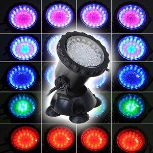 4 в 1 36LED RGB подводная лампа, Точечный светильник для воды, сада, аквариума, фонтана, аквариума, светодиодное освещение с дистанционным управле...