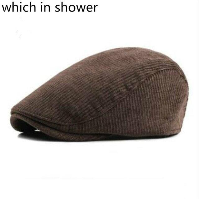 Que na casa de banho das mulheres dos homens engrossar quente boina de  inverno veludo cotelê c7170a4f434