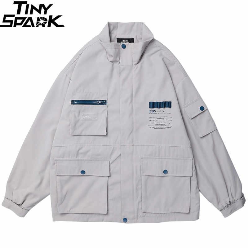 2019 Harajuku chaqueta cortavientos para hombre Hip Hop