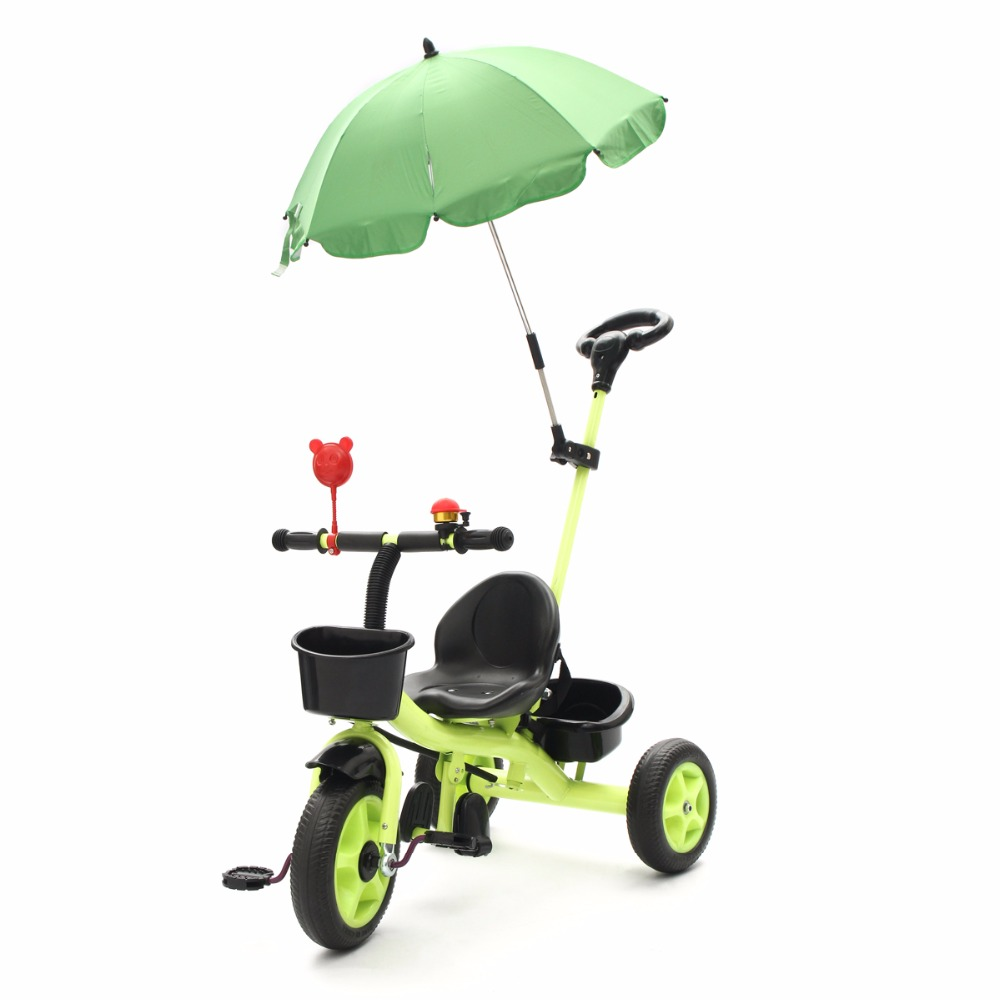 3 Wheels Kids Ride On Tricycle Bike Children Ride Toddler Balance With Umbrella Baby Mini Bike Safety Handle Push