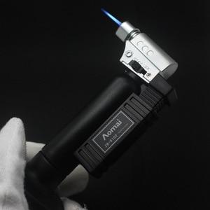 Image 3 - Hot BBQ Outdoor Torch Turbo Lighter Spray Gun Jet Butane Lighter For Kitchen Cigarette 1300 C Fire Windproof Lighter No Gas